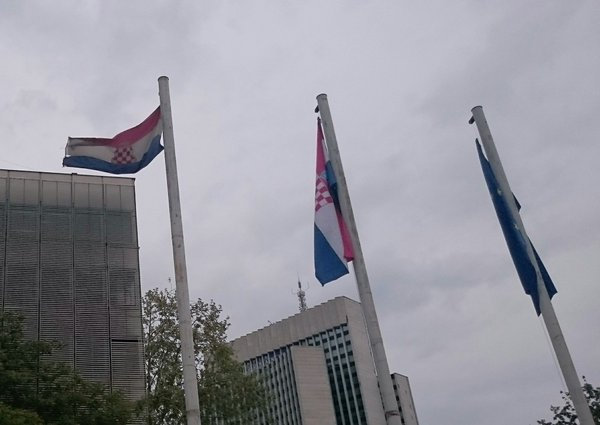 Zagreb Zastava Herceg Bosne Ispred Ministarstva Branitelja